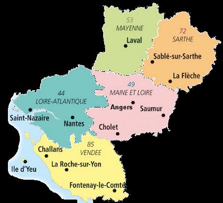 carte pays de la loire